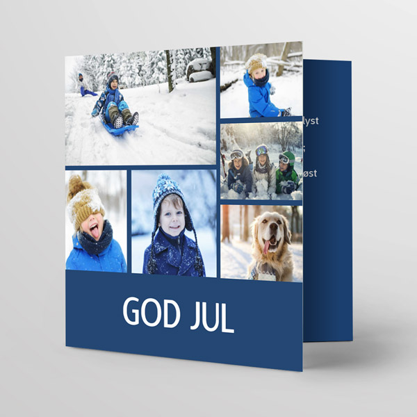 nå kan du lage julekort enklere enn noen gang. Velg mellom forskjellige maler og legg til bilder og tekst